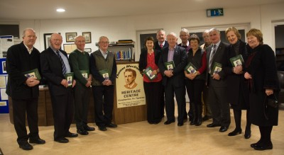 Contributors and those representing contributors at the launch of volume 9 of the Cloughjordan Heritage journal (photo by Seamus Costello)