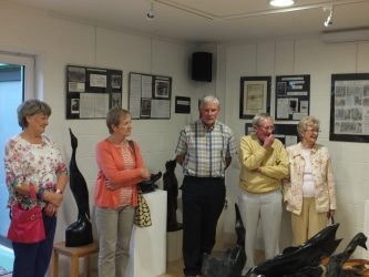 L. to R. Betty Gough, Betty and Phil Reddan and Tom and Fidelma Martin. Both Phil and Tom have pieces on exhibit. Photo by Andy Whelan